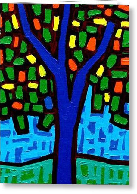 Tree Of Colour Greeting Card by John  Nolan