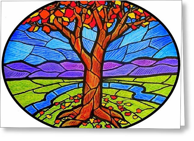Tree Of Grace - Autumn Greeting Card by Jim Harris