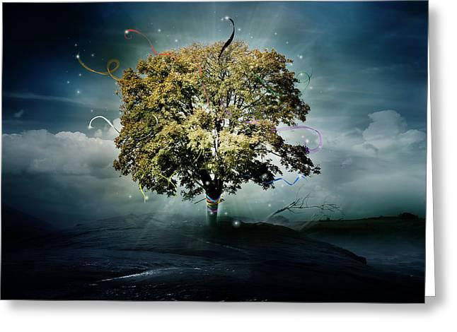 Tree of Hope Greeting Card by Karen K
