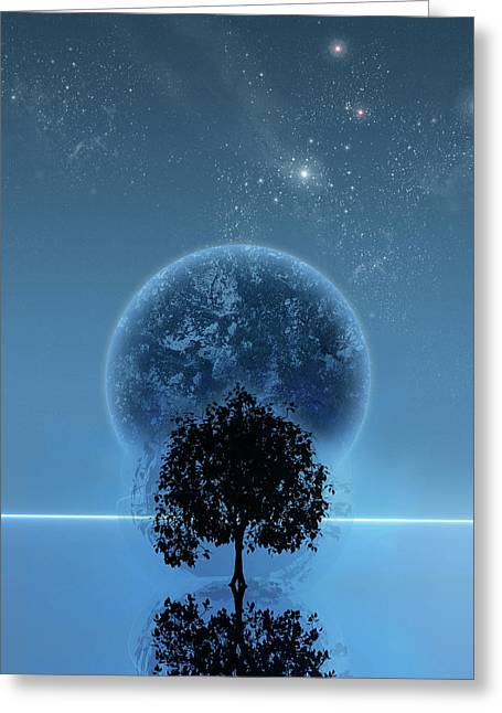 Space Art Greeting Cards - Tree Of Life Greeting Card by Andreas  Leonidou