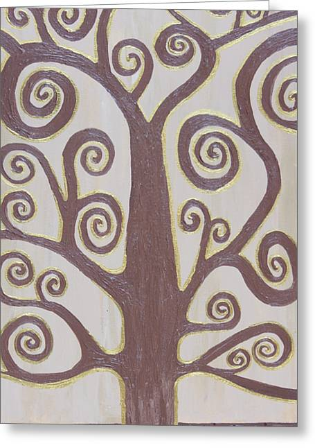 Tree Of Life Greeting Card by Angelina Vick