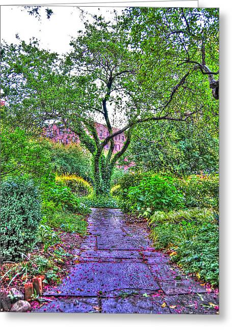 Tree Of Life At St. Luke In The Field Church Greeting Card by Randy Aveille
