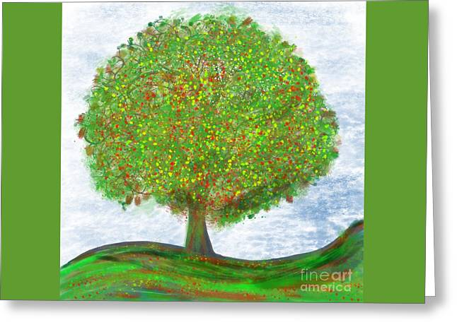 Colorful Trees Digital Greeting Cards - Tree of Life Greeting Card by Edward Fielding