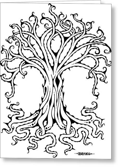 Tree Of Life Greeting Card by John Benko