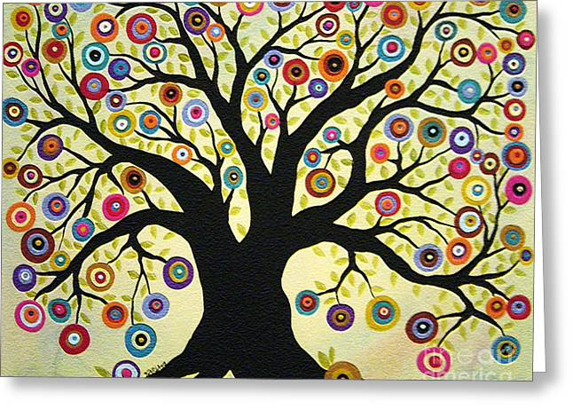 Karla G Greeting Cards - Tree of Life Greeting Card by Karla Gerard