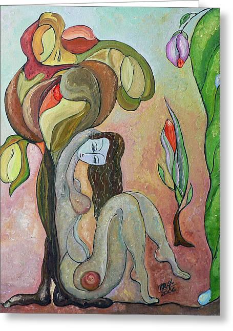 Mila Ryk Greeting Cards - Tree of Life Greeting Card by Mila Ryk