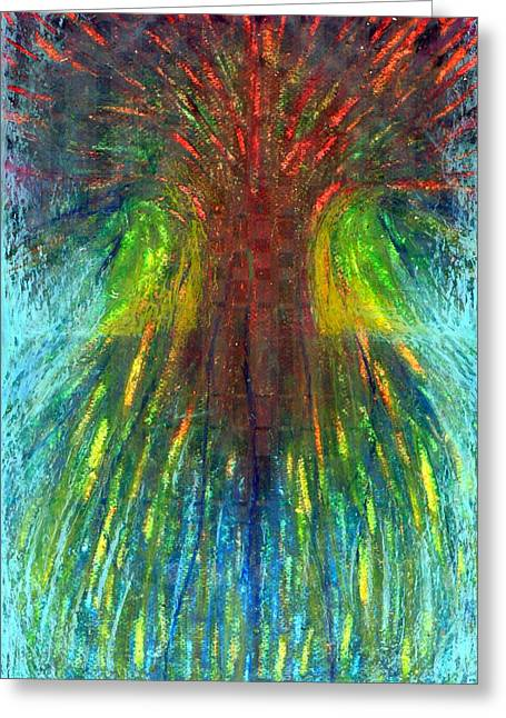 Vivid Colour Pastels Greeting Cards - Tree Of Oblivion Greeting Card by Wojtek Kowalski