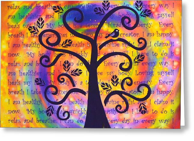 Attract Health Greeting Cards - Tree of Perfect Health Greeting Card by Agata Lindquist
