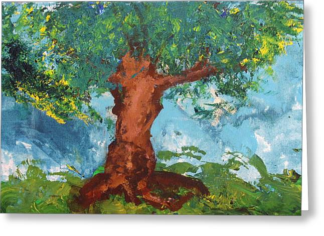 Disability Paintings Greeting Cards - Tree of Plenty Greeting Card by Empowered Creative Fine Art