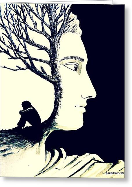 Self-knowledge Greeting Cards - Tree Of Self Insight Greeting Card by Paulo Zerbato