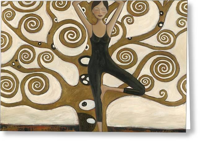Tree Of Wisdom Greeting Card by Denise Daffara