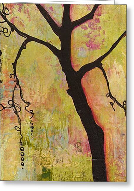 Tree Art Greeting Cards - Tree Print Triptych Section 1 Greeting Card by Blenda Studio
