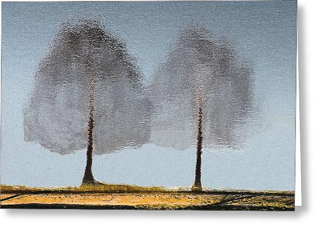 Rosalie Scanlon Greeting Cards - Tree Reflections Greeting Card by Rosalie Scanlon