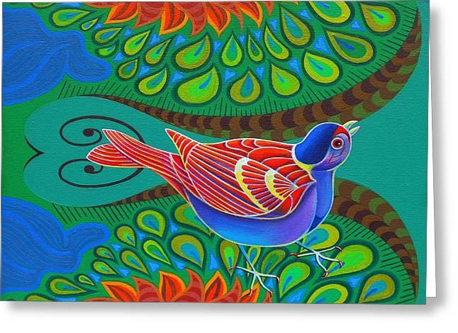 Tree Sparrow Greeting Card by Jane Tattersfield