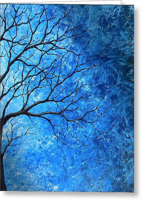 Tree Swirls Greeting Card by Sabrina Zbasnik