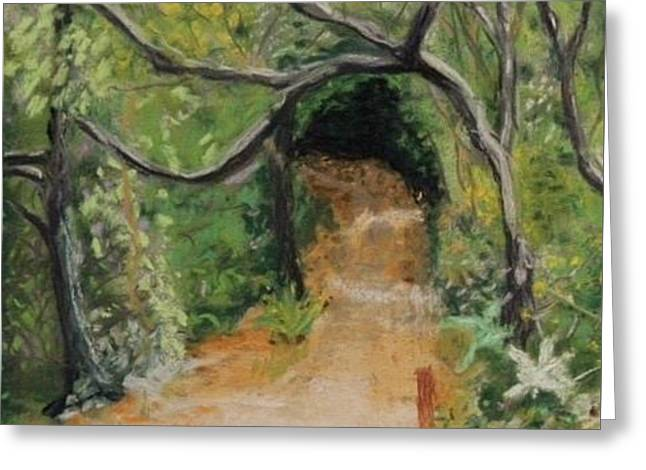 Gnarly Greeting Cards - Tree Tunnel  Greeting Card by Stephen Raley