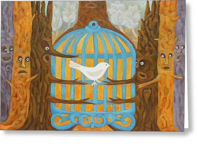 Treebeards Greeting Card by Elzbieta Goszczycka