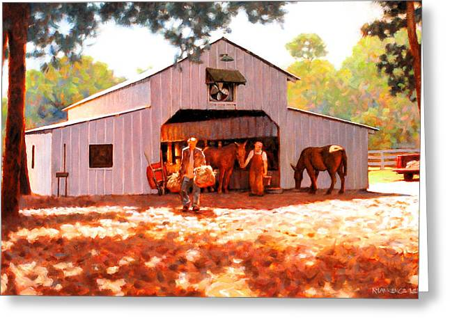 Treece Barn Greeting Card by Kevin Lawrence Leveque