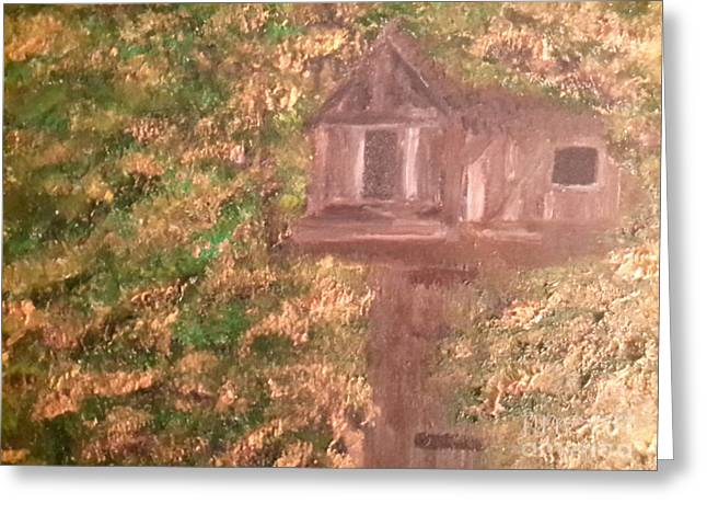 The Houses Greeting Cards - Treehouse Greeting Card by Cindy  Riley