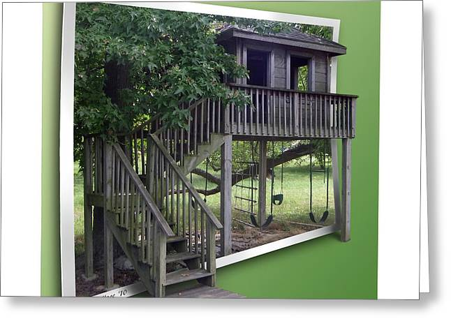 Treehouse Playground Greeting Card by Brian Wallace