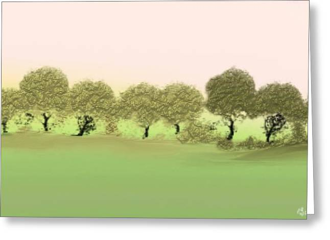 Treeline Greeting Card by Gina Lee Manley