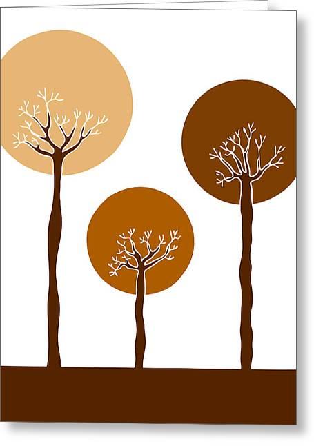 Autumn Drawings Greeting Cards - Trees Greeting Card by Frank Tschakert