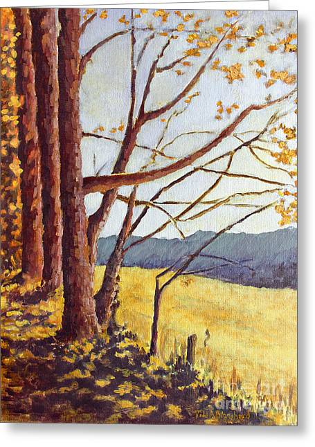 Tn Paintings Greeting Cards - Trees in Fall I Greeting Card by Todd A Blanchard