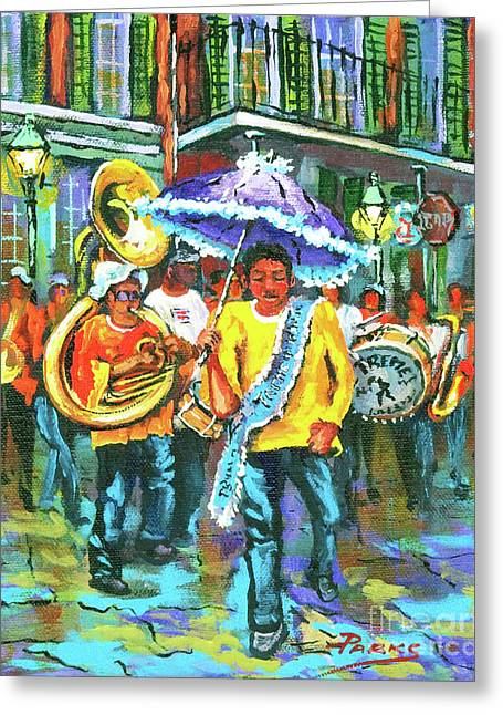 Lining Greeting Cards - Treme Brass Band Greeting Card by Dianne Parks