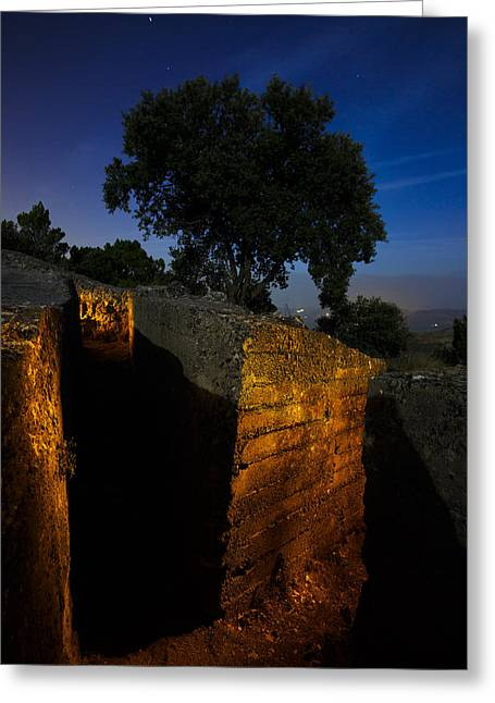 Civil Greeting Cards - Trenches - Alfacar - Trincheras Greeting Card by Juan Carlos Ballesteros