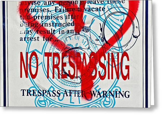 Trespassing Greeting Card by Anahi DeCanio