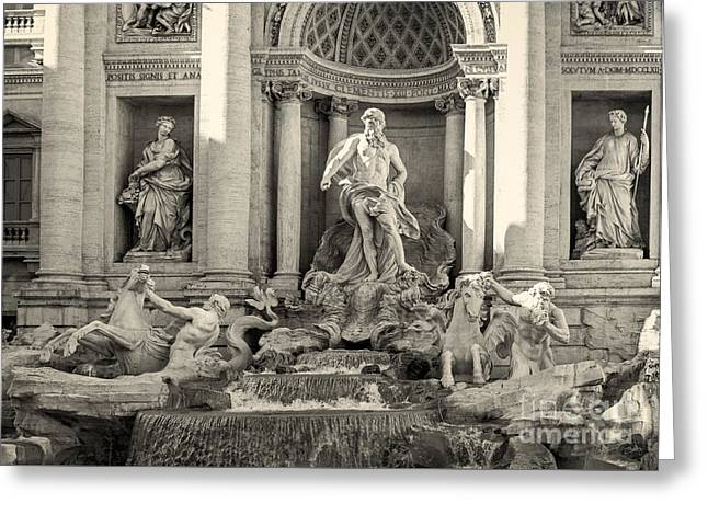 Charly Greeting Cards - Trevi Fountain Greeting Card by Prints of Italy