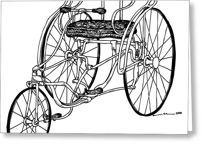Tri Bike Greeting Card by Karl Addison