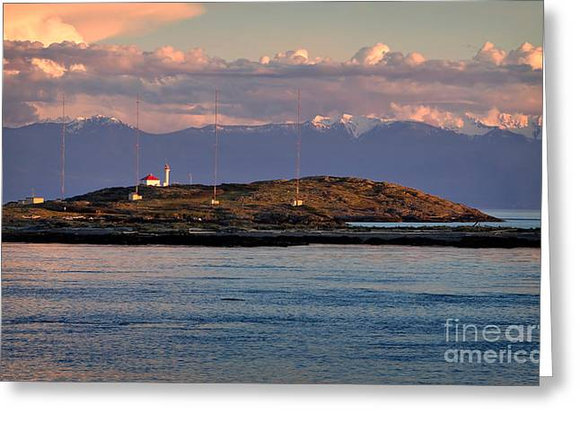 Trial Greeting Cards - Trial Island British Columbia Greeting Card by Louise Heusinkveld