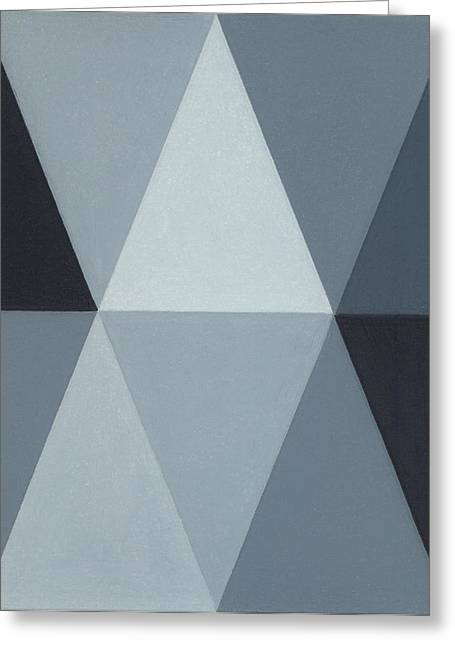 Greyscale Drawings Greeting Cards - Triangle Mini - Grey A4 Greeting Card by Adam Schreck