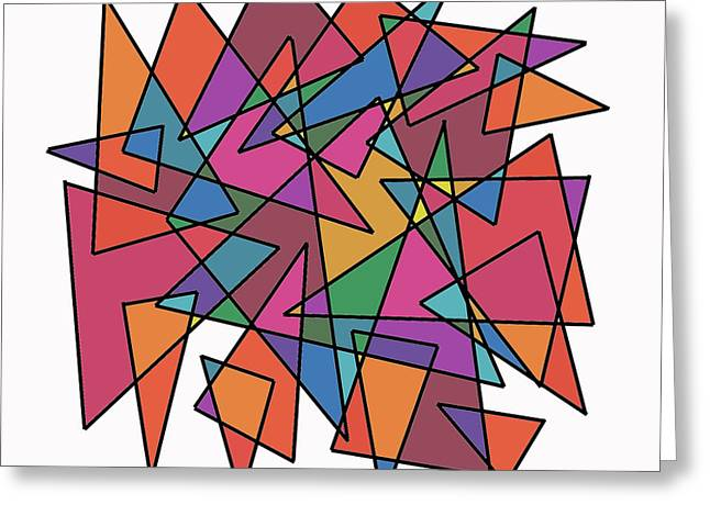 Triangles in Motion Greeting Card by ME Kozdron