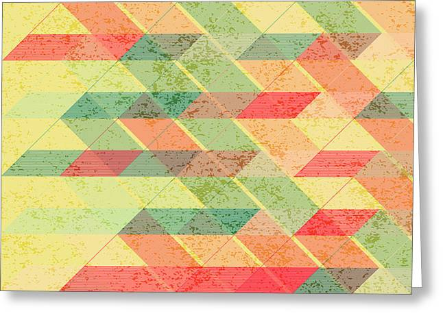 Triangles Pattern Greeting Card by Gaspar Avila