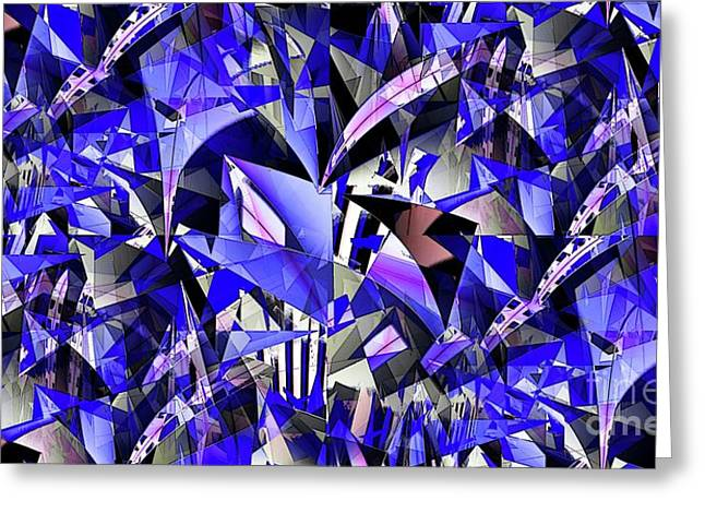 Triangulate Greeting Card by Ron Bissett