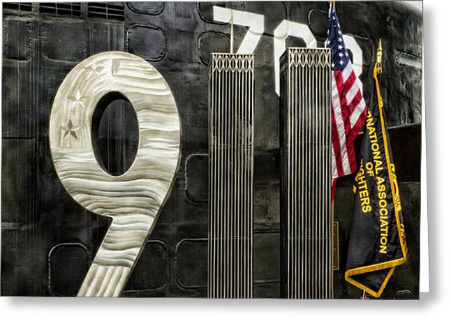 Tribute 911 Greeting Card by Peter Chilelli