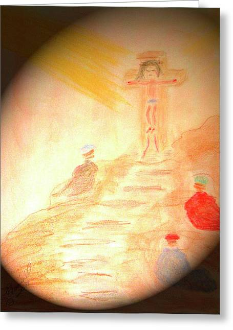 Jesus Pastels Greeting Cards - Tribute Greeting Card by Robyn Louisell
