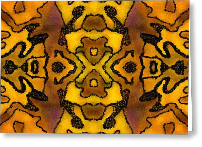 Geometric Art Greeting Cards - Tribute Greeting Card by Suzi Freeman