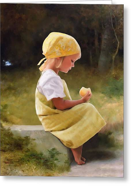 Farm Girl Greeting Cards - Tribute to Bouguereau  Greeting Card by Bob Nolin