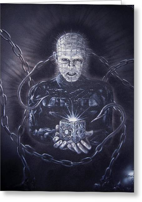 Tribute To Hellraiser Greeting Card by Jonathan Anderson