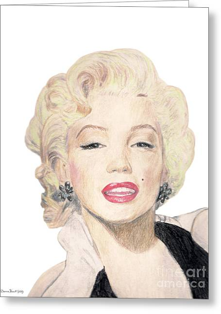 Tribute To Marilyn Monroe Greeting Card by Deanna Yildiz