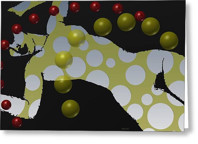 Modigliani Digital Art Greeting Cards - Tribute to Mondigliani 7 Greeting Card by Alberto  RuiZ