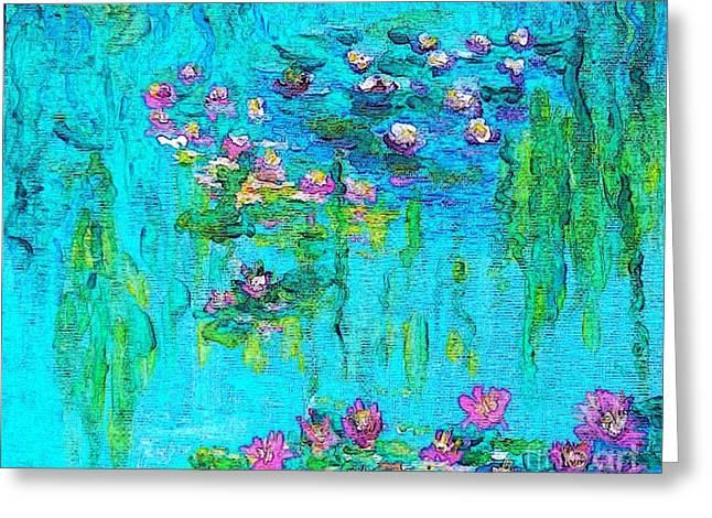Tribute To Monet Greeting Card by Holly Martinson