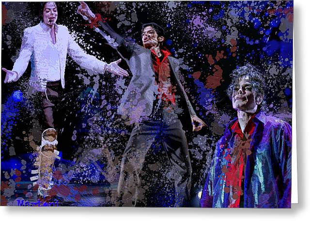 Tribute to the King of Pop Greeting Card by A Martoni