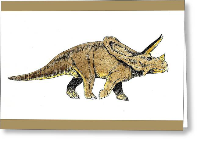 Triceratops Greeting Cards - Triceratops Greeting Card by Michael Vigliotti