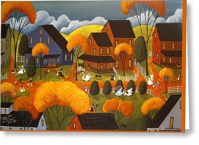 Trick Or Treat 2007 Greeting Card by Debbie Criswell