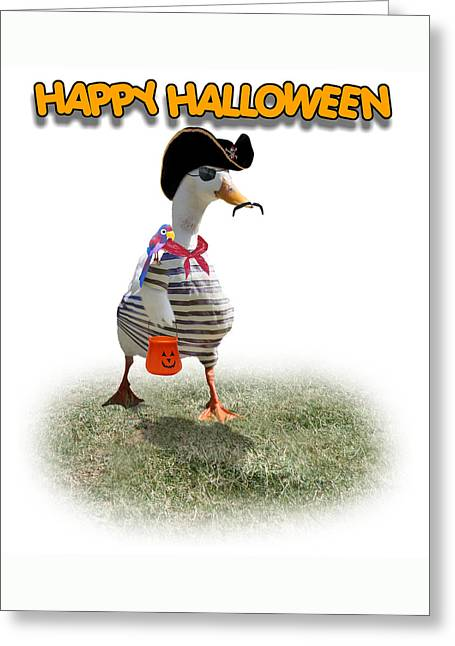 Tricks Mixed Media Greeting Cards - Trick or Treat for Capn Duck Greeting Card by Gravityx9 Designs
