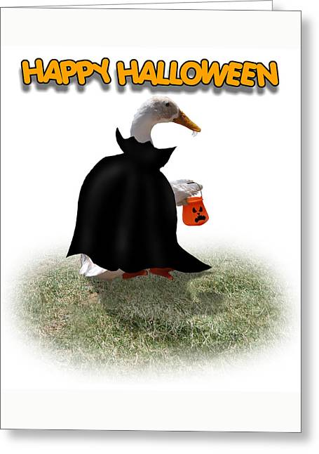 Tricks Mixed Media Greeting Cards - Trick or Treat for Count Duckula Greeting Card by Gravityx9  Designs